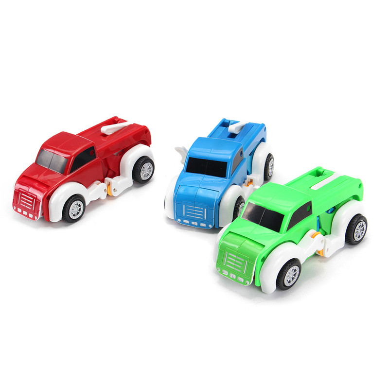 Automatic Transformation Dog Car Vehicle Clockwork Winding Up For Kids Christmas Deformation Gift