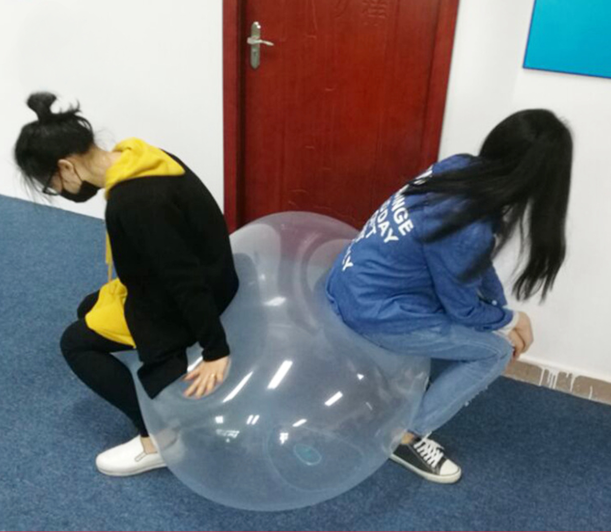 The Amazing Tear Resistant 40cm WUBBLE Bubble Ball Kids Toy Inflatable Toys Outdoor Beach Play Toy