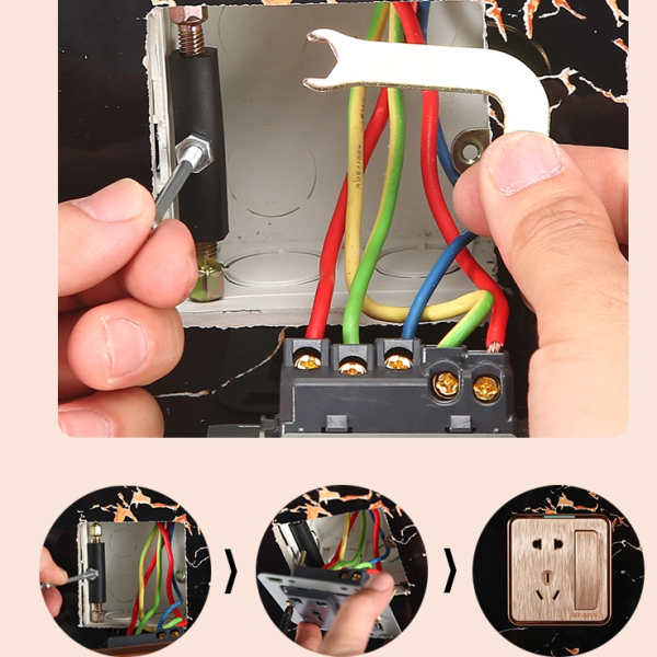 10 Pc Cassette Repair Parts Wall Mount Junction Case Box Repair Device for 118 Wall Plate Switch