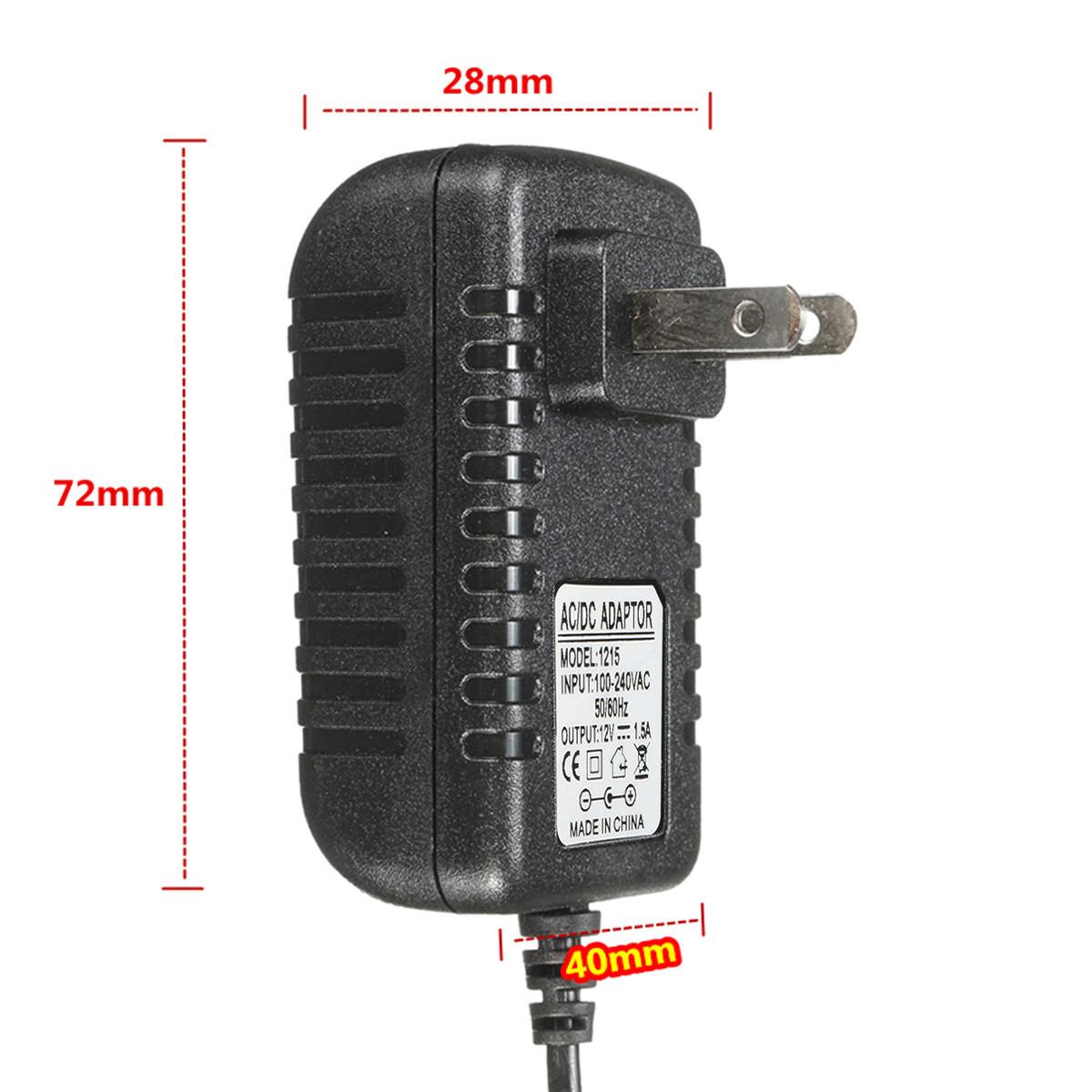 AC 100-240V TO DC 12V Adapter Power Supply Transformer US Plug For LED Strip Light