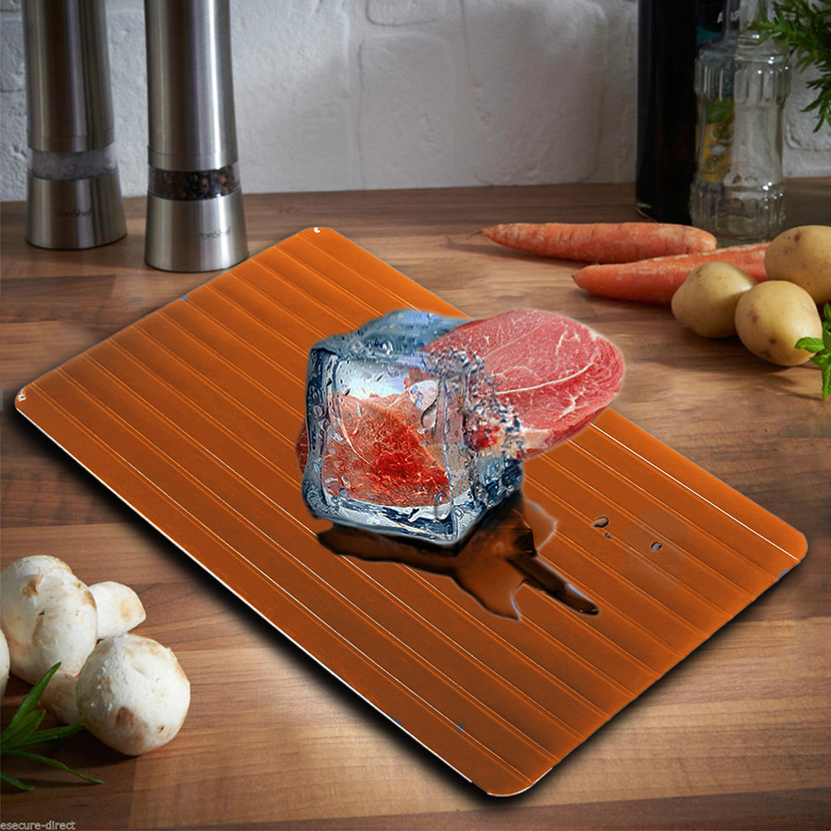23.5x16.5x0.2cm Fast Defrost Defrosting Tray Aluminium Meat Thaw Thawing Miracle For Frozen Food