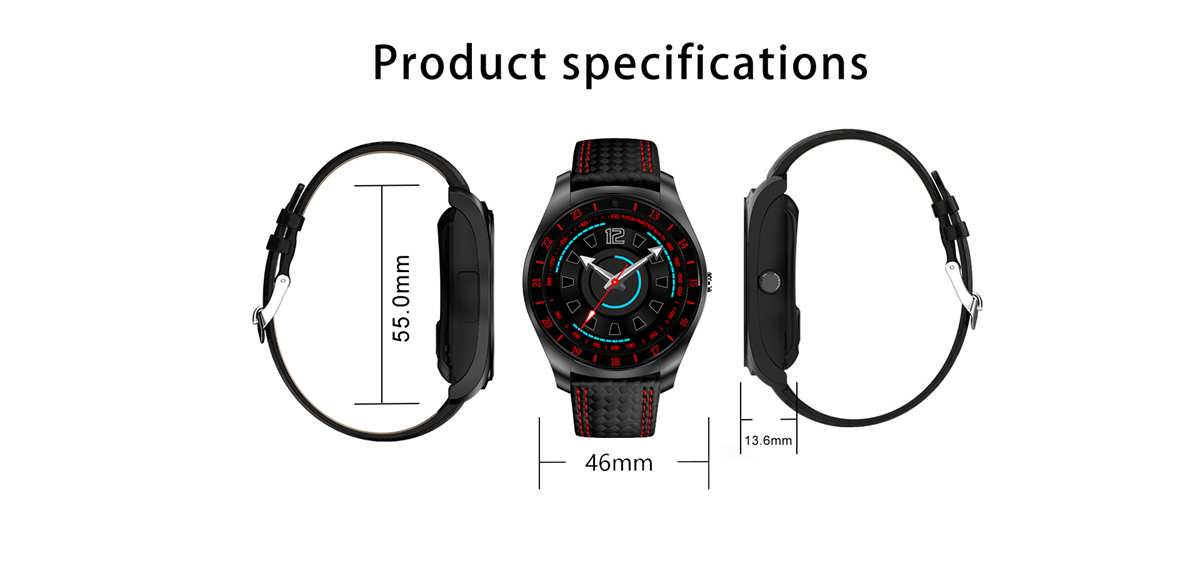 Bakeey V10HR 1.22inch GSM Call HR Sleep Monitor Anti-lost Pedometer Fitness Tracker Smart Watch