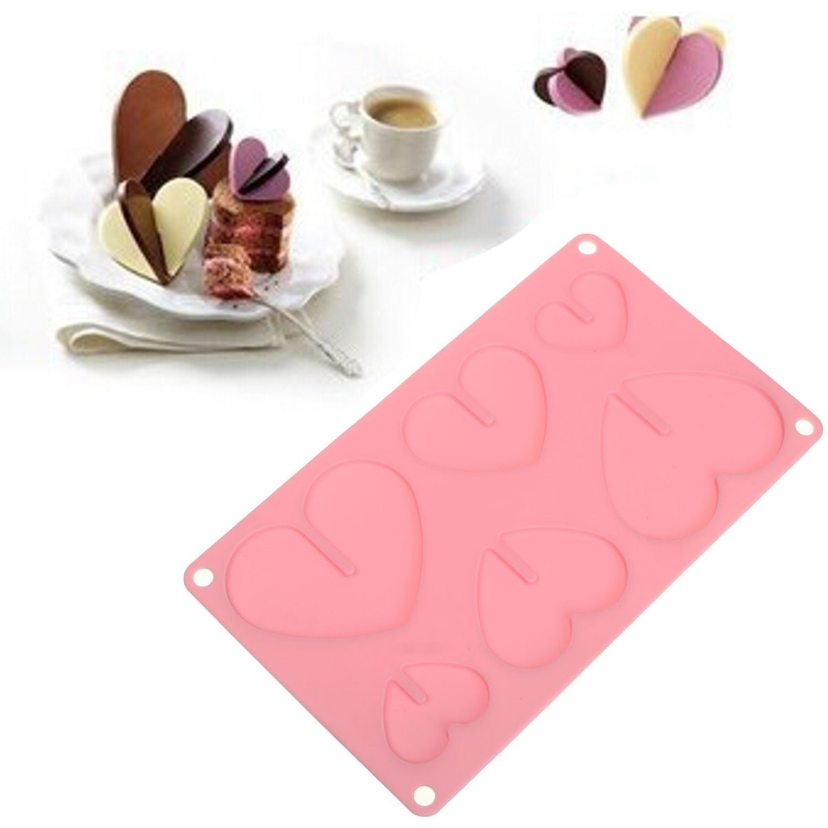 3D Heart Silicone Cake Candy Fondant Craft Chocolate Cookies Ice Cube Soap Decorating Baking Mould