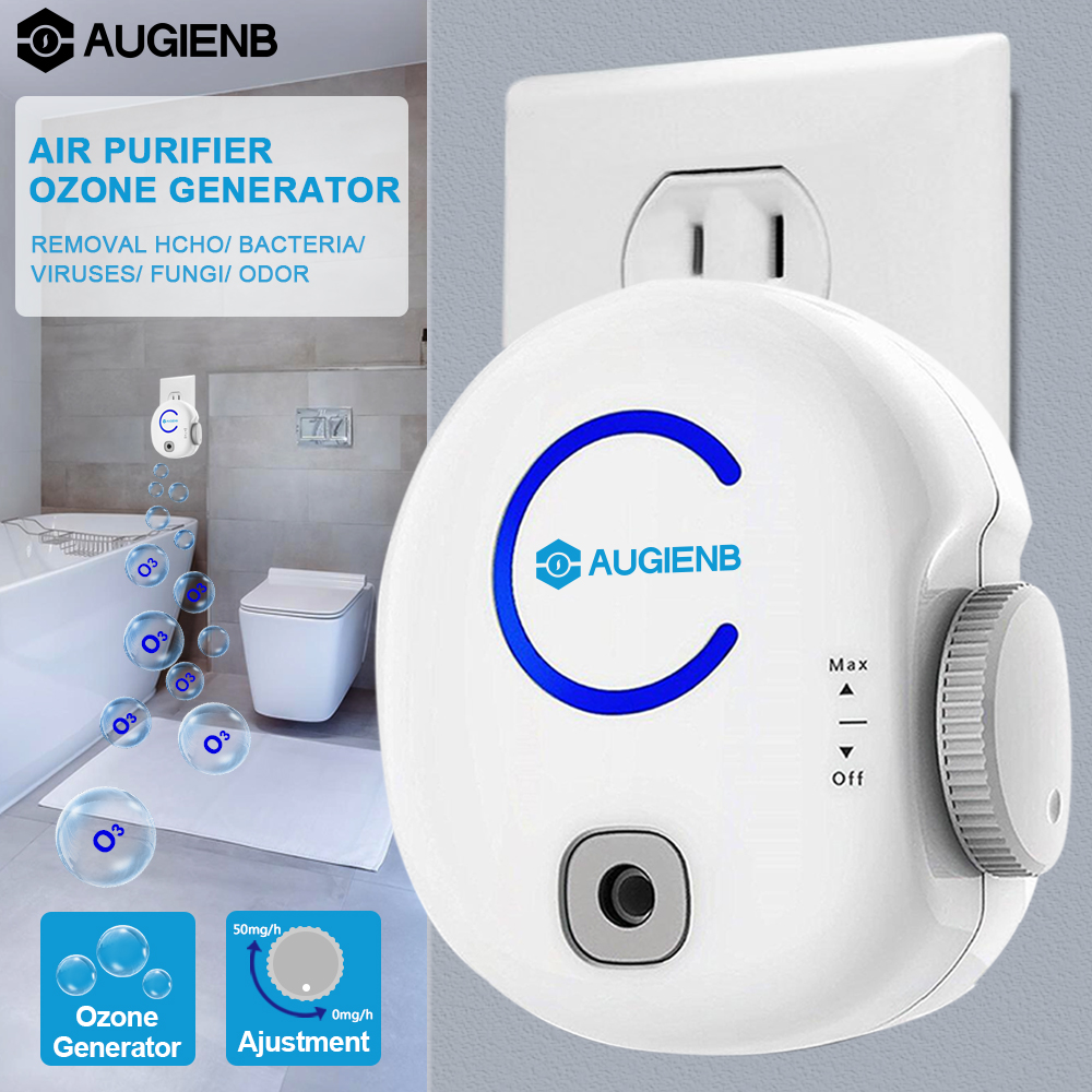 AUGIENB FA50 Portable Home Odor Elimination Kill Smell Plug in Air Purifier Ozone Generator for Kitchen Toilet Office
