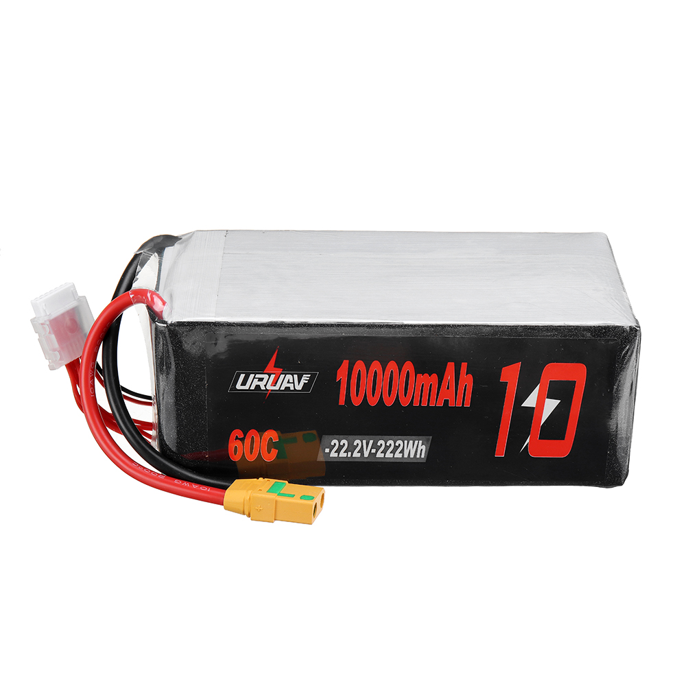 URUAV 22.2V 10000mAh 60C 6S Lipo Battery XT90 Plug for RC Racing Drone
