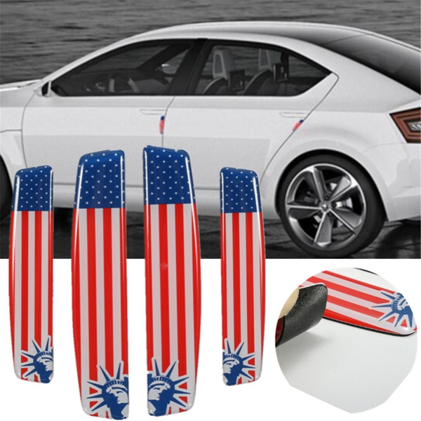 4pcs Car Door Edge Flag Emblem Anti Crash Guard Decal Australia/Germany/USA/UK