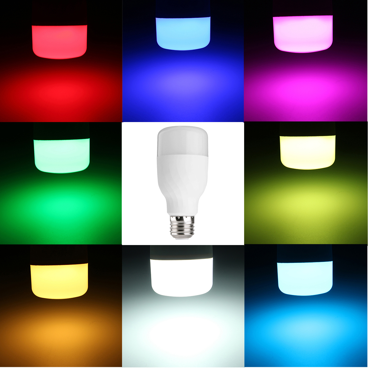 E27 7W RGB+CW WIFI LED Smart Light Bulb Works Echo Alexa With Google Home AC85-265V