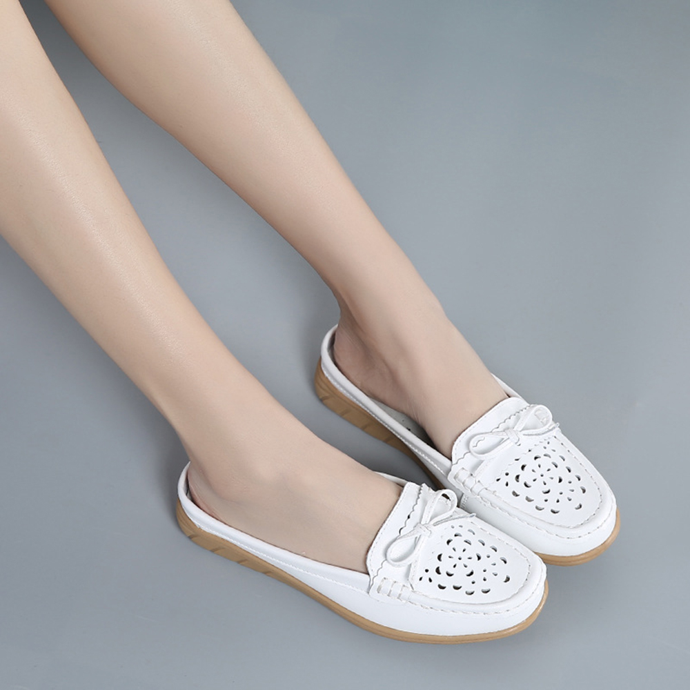 US Size 5-12 Women Casual Soft Hollow Flats Slippers