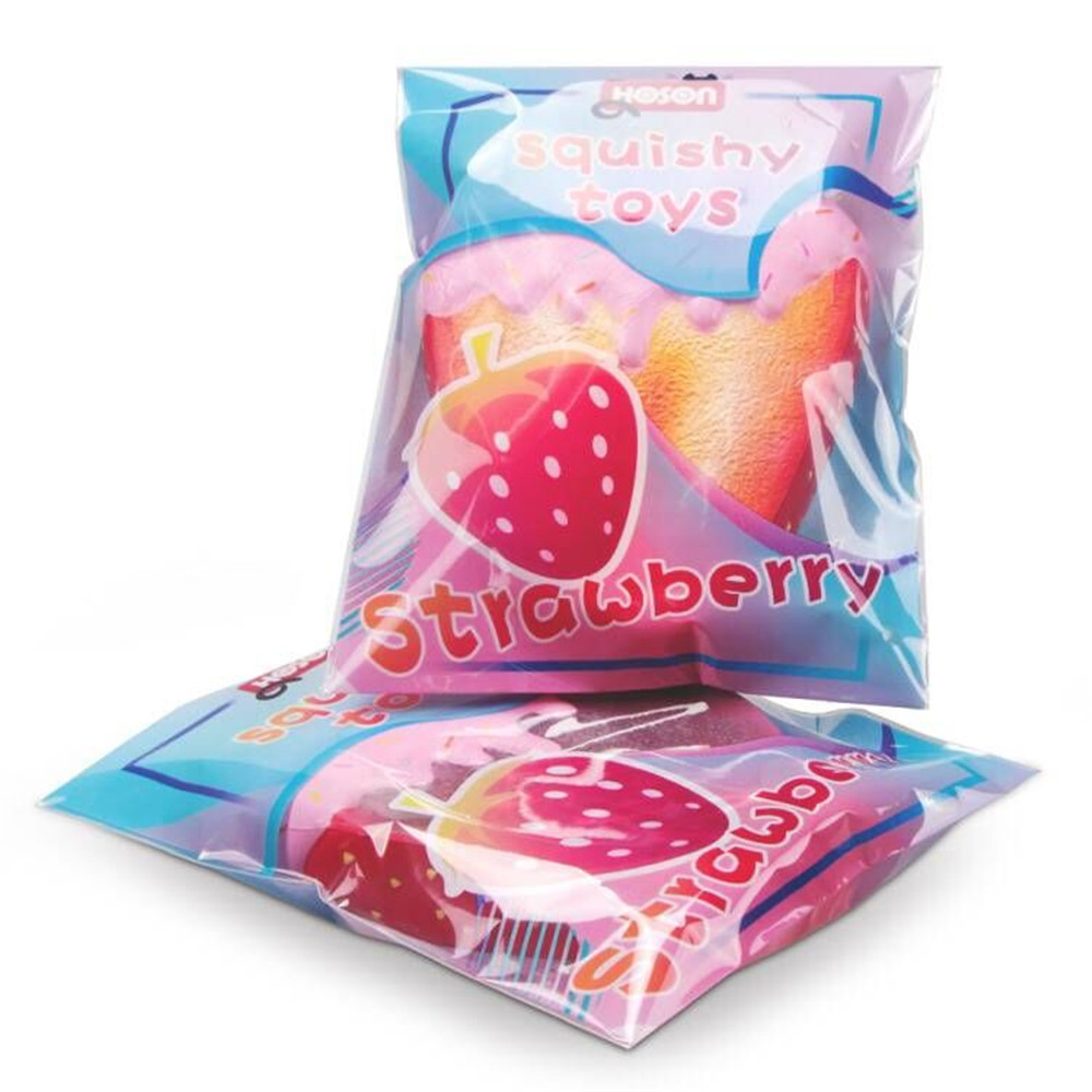 Hoson Squishy Strawberry Peach Toast 19cm 7.5Inches Bread Soft Slow Rising Fruit Toy With Original Package