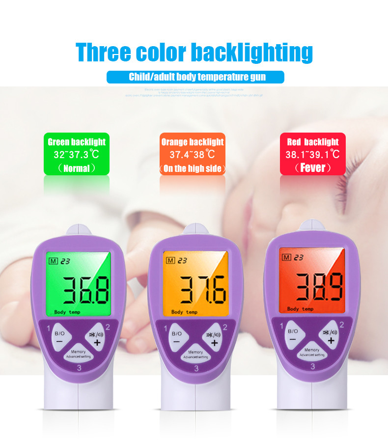 FI01 Accurate Adult Baby Infrared Digital Thermometer Multi-purpose Temperature Tester