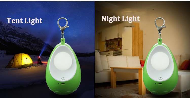 Outdoor Camping Lantern LED 3 Modes Dimming Light USB Rechargeable Tent Night Lamp
