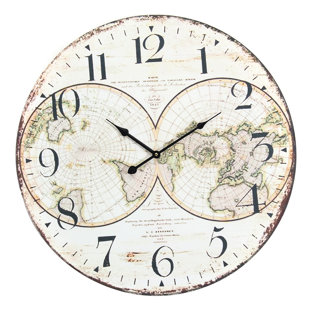 58cm Wall Clock Extra Large Compressed Wooden Retro Wall Clock Lacquer Surface For Home Room Decor