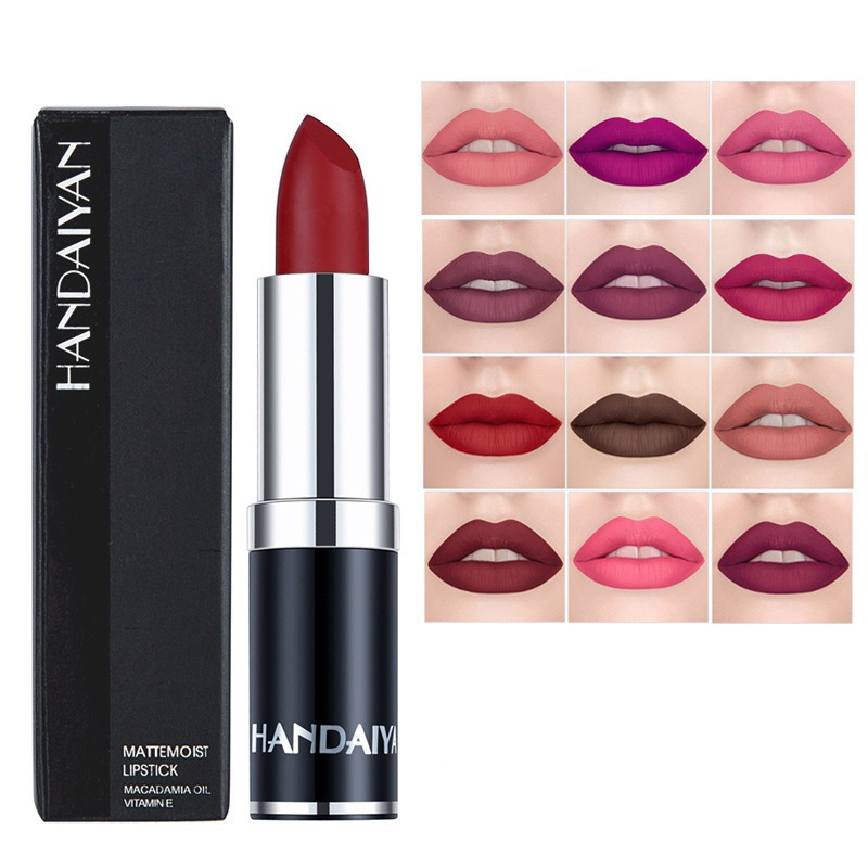 12 Color Velvet Matte Lip Stick Moisturizer Lip Makeup