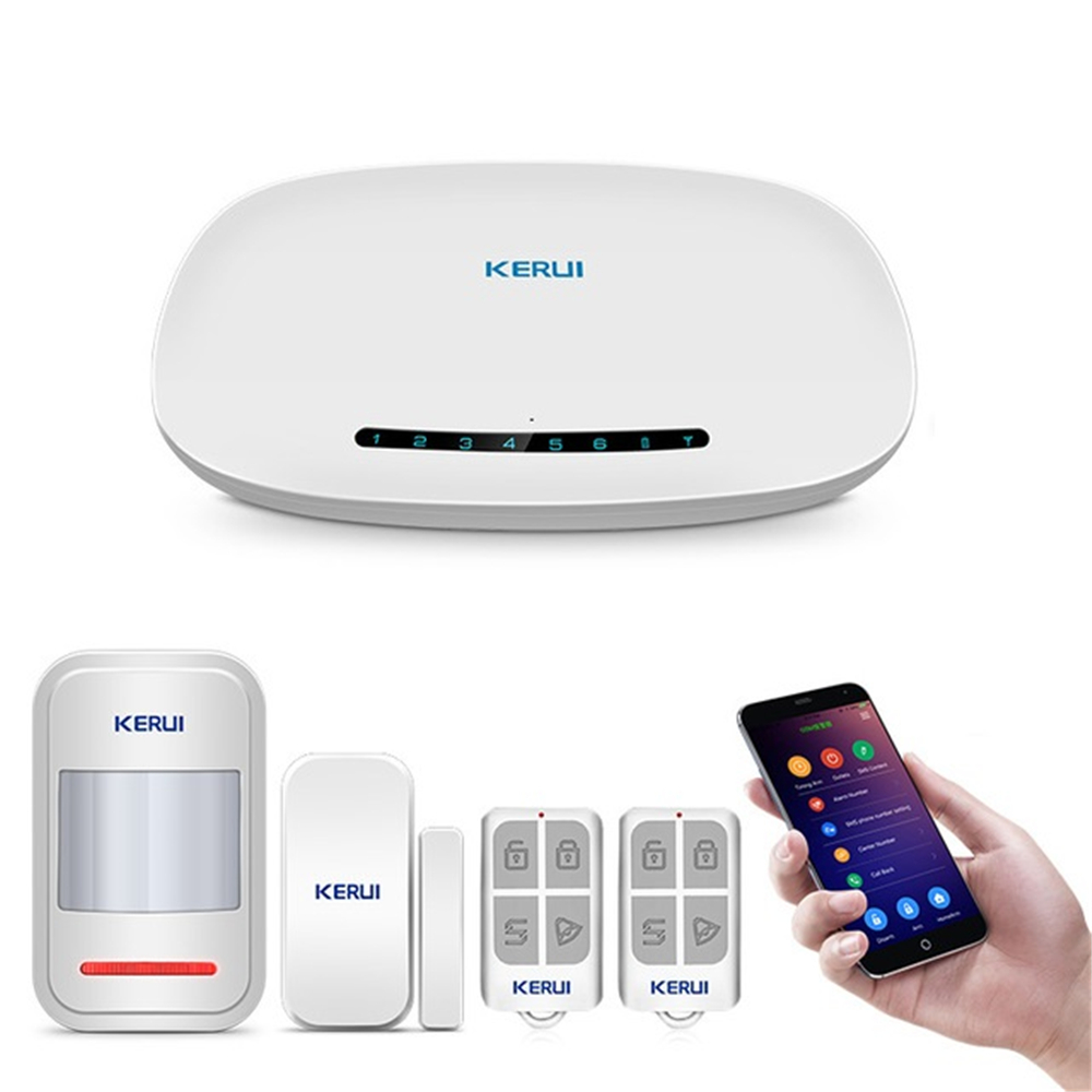 KERUI GSM Alarm Security System Auto Dial APP Wireless Home Burglar Fire Protection Motion Sensor