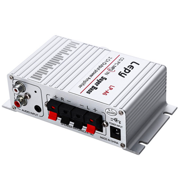 Lepy LP-A6 2 Ch Hi-Fi Stereo Audio Car Home Output Power Amplifier Speaker for Mobile Phone MP3 PC