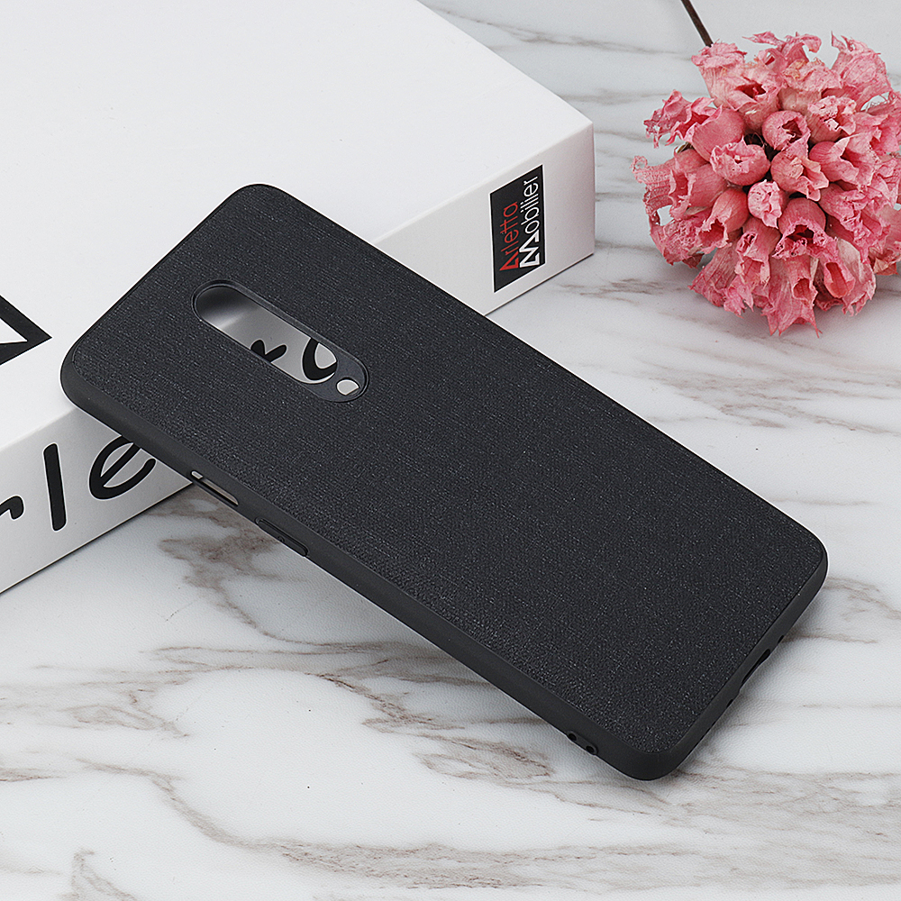 Bakeey Anti-finerprint PU Leather Soft Silicone Edge Shockproof Protective Case For OnePlus 7 PRO
