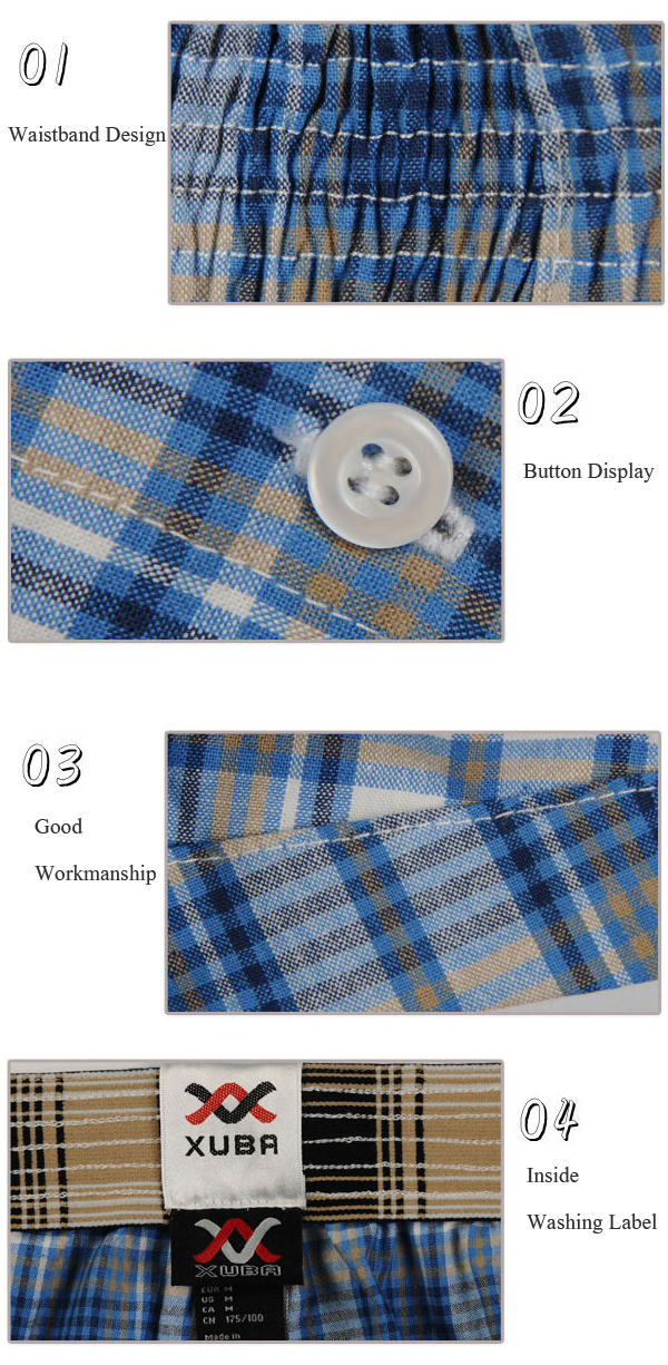 Mens Summer Thin Casual Plaid Printing Arrow Shorts Home Breathable Sleepwear Boxers