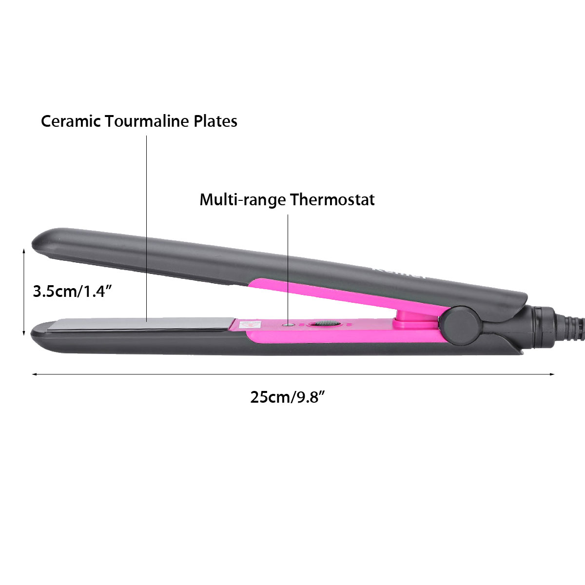 Hair Straightener Ceramic Flat Plate Perm Hairdress Tools