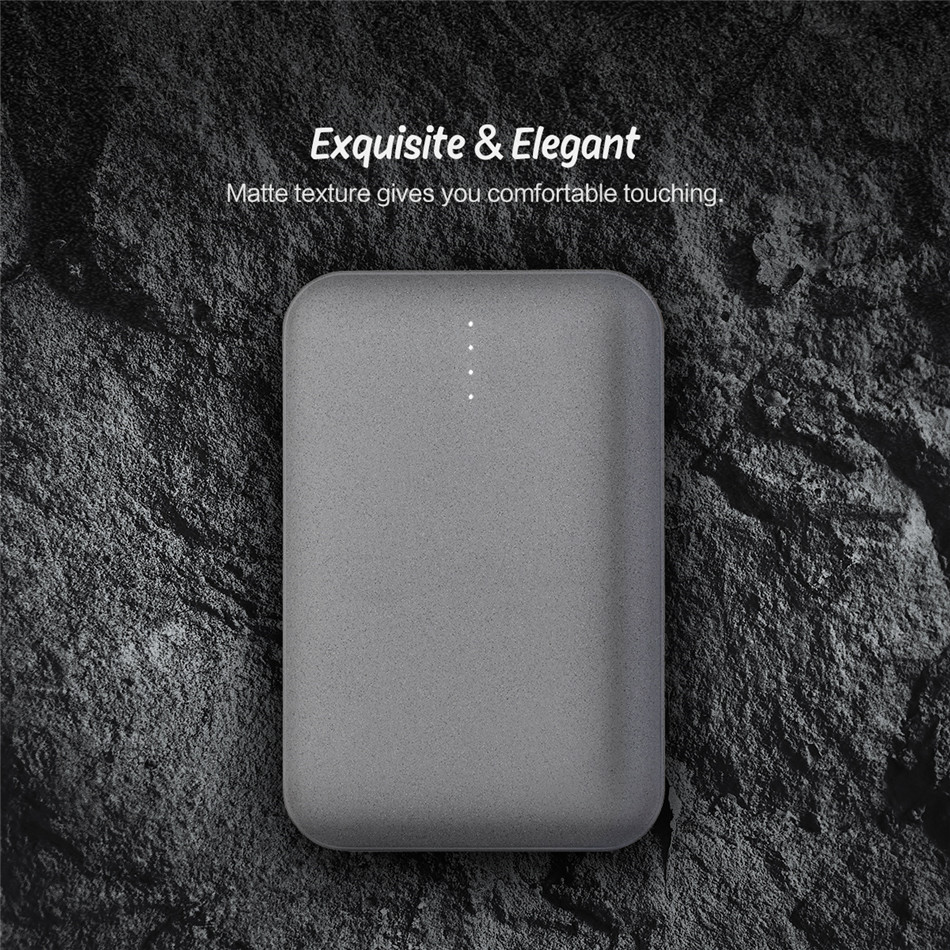 ROCK P51 10000mAh Mini Portable Dual USB Power Bank Battery for iPhone for SamSung Xiaomi Huawei