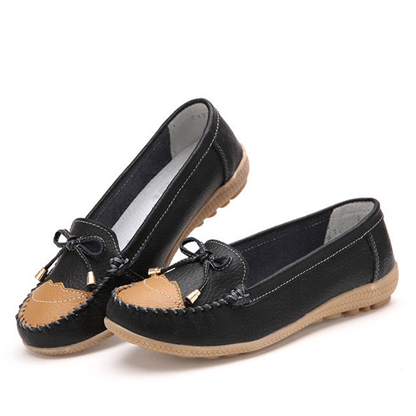 Low Top Slip On Women Casual Outdoor Round Toe Flat Loafer Shoes