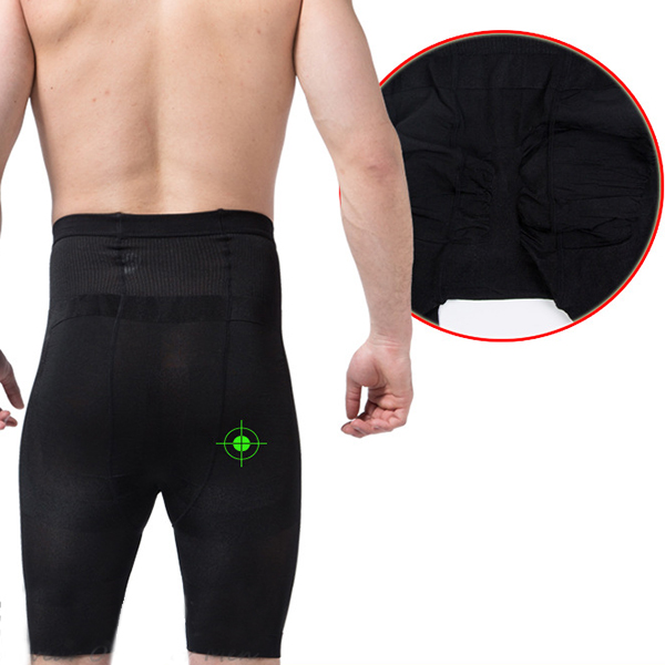High Elastic Fat Burning Tight Tummy Tuck Hip Lifting Body Shaper Underpants for Men