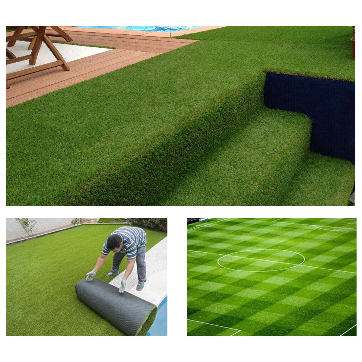 5x0.15m Self-Adhesive Artificial Turf Tape Synthetic Turf Grass Joining Lawn Tape Glue