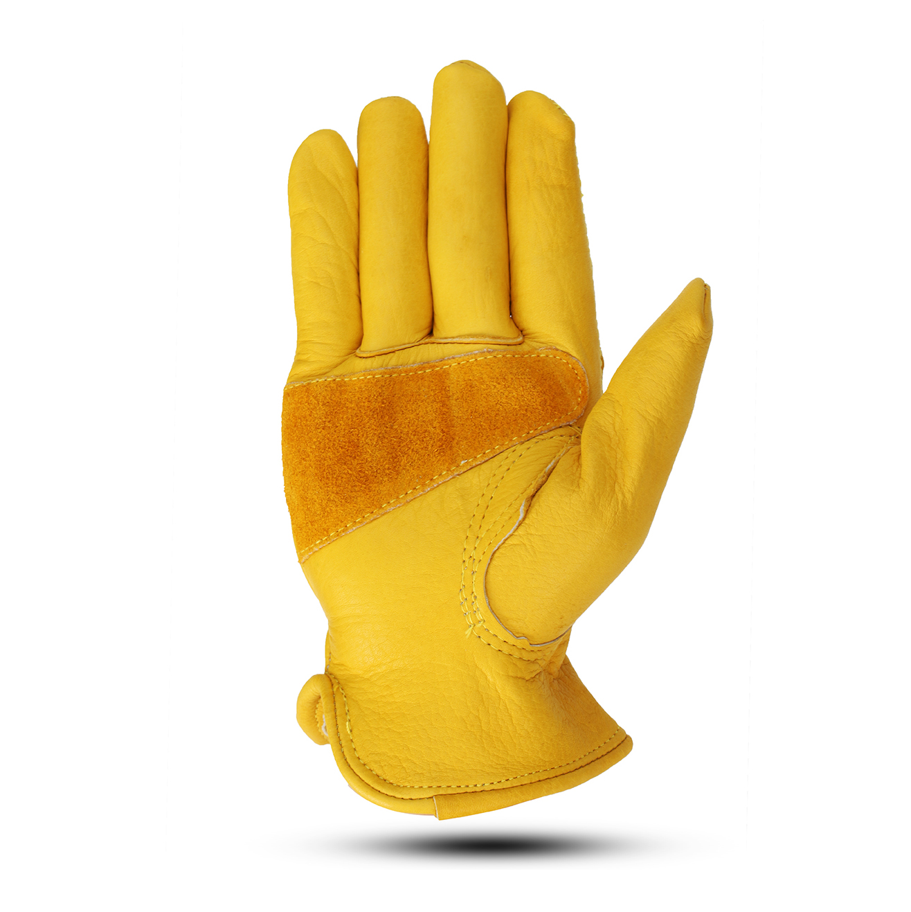 Insulated Grain Cowhide Leather Skid Resistance Gloves Winter Work Motor Vehicle