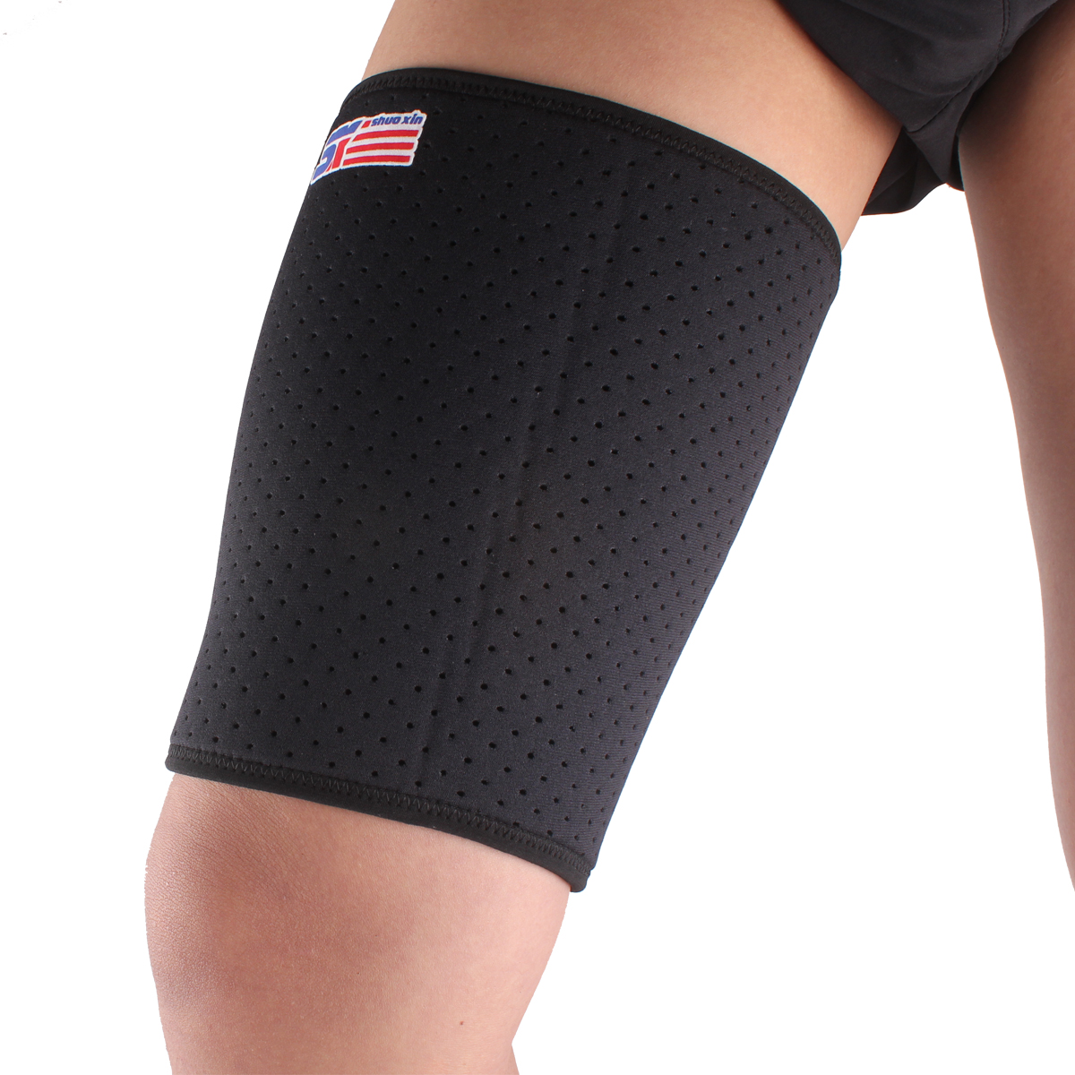 ShuoXin SX650 Sports Fitness Gym Elastic Stretchy Thigh Brace Support Wrap Band - 1PC