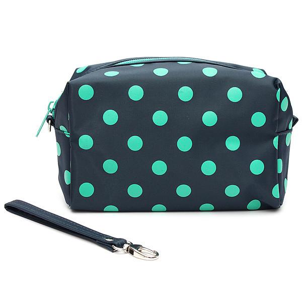 Portable Dot Makeup Bag Large Capacity Cosmetic Bags Storage Travel Women