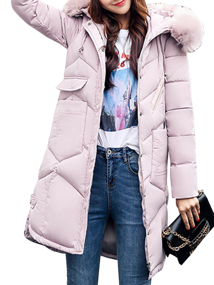 Casual Women Faux Fur Hooded Thicken Coats