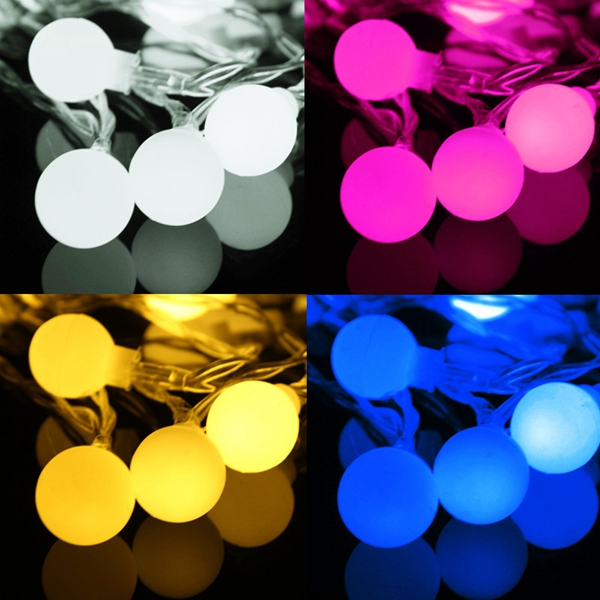 5M 50LED Remote Battery Globe Outdoor String Light for Christmas Wedding Party Holiday Decor
