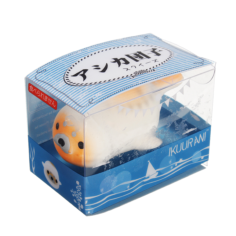 IKUURANI Seal Sea Lion 7cm Squeeze Squishy Stretchy Original Packaging Collection Gift Decor Toy