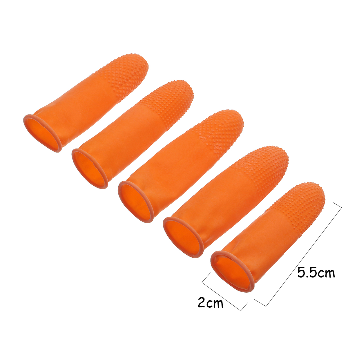 10pcs Protective Anti-static Fingertips Rubber Gloves Finger Cots