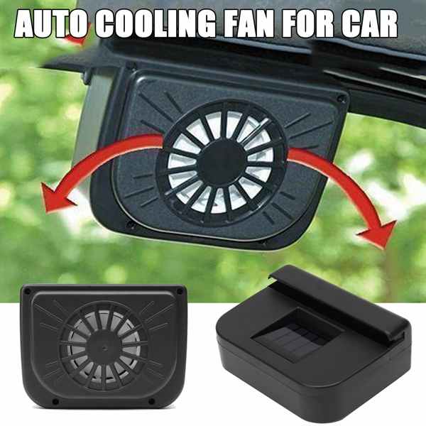 Solar Powered 2V 0.5W Car Window Windshield Auto Air Vent Cooling Fan System Radiator