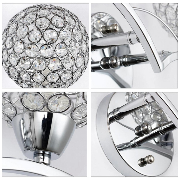 Modern Crystal Wall Lamp Fixture for Home Bedroom Living Room Decoration
