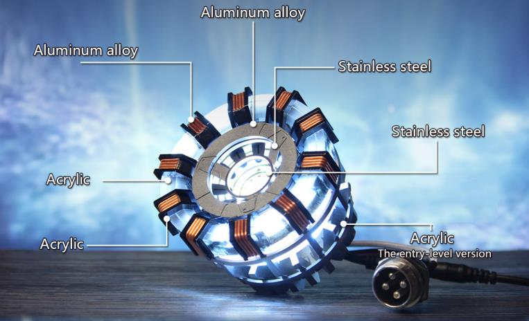 STEM Illuminant Arc Reactor Ornament Lamp Superhero Movie Prop Science Toy Boys Gift Collection
