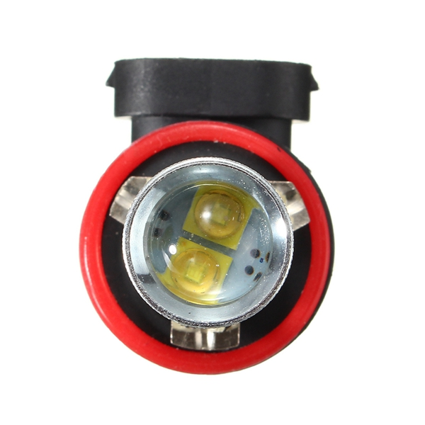 White H11/H8 4.2W 6000K 12V Clear Lens LED Car Fog Light Bulb