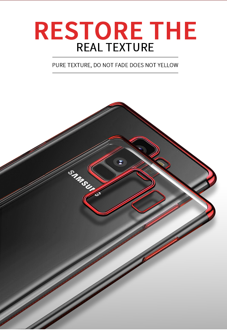 Bakeey Plating Clear Transparent Soft TPU Case For Samsung Galaxy S9 Plus