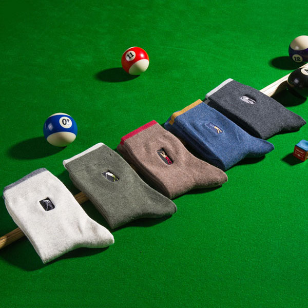 Mens Casual Embroidery Golf Middle Tube Socks