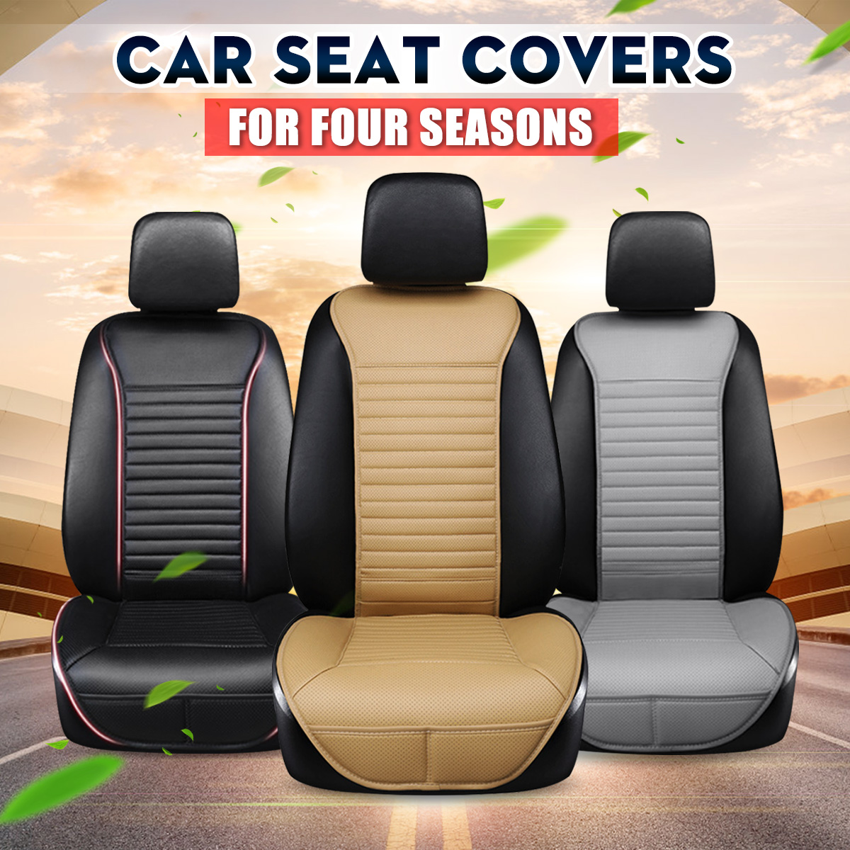 125x50cm PU Leather Car Seat Cushion Cover Chair Protector Mat Pad Universal