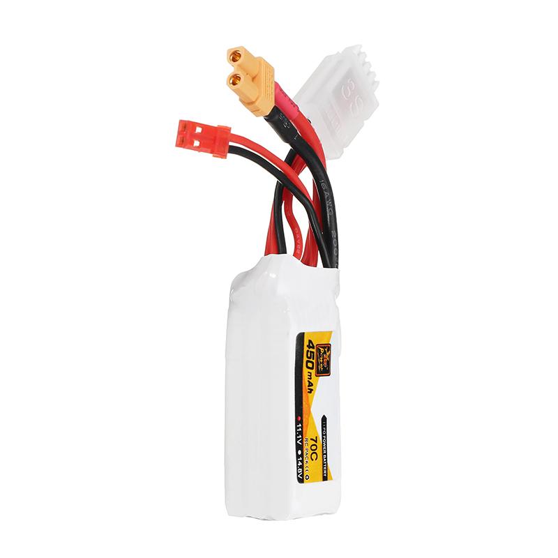 5Pcs ZOP Power 11.1V 450mAh 70C 3S Lipo Battery JST XT30 Plug for FPV Racing Multi Rotor - Photo: 6