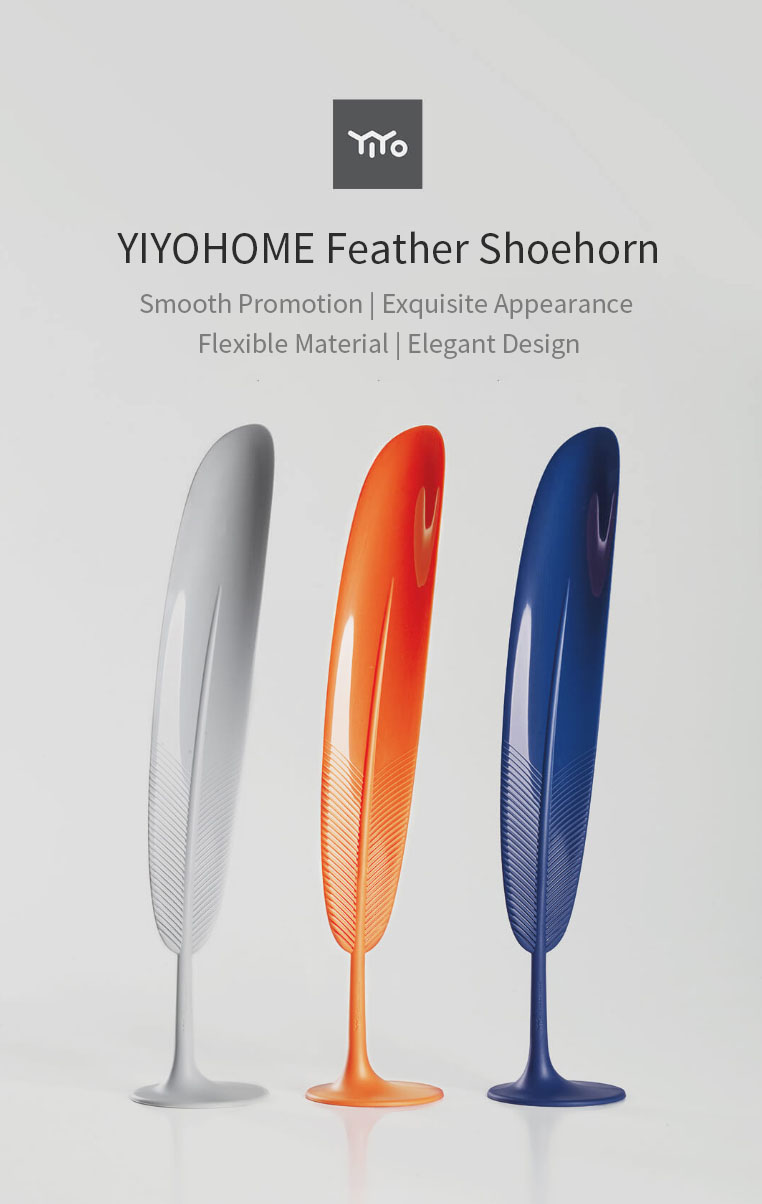 XIAOMI YIYOHOME Feather Shoehorn Elegant Smooth Plastic Shoe Lifter Tool Home Shoes Tools