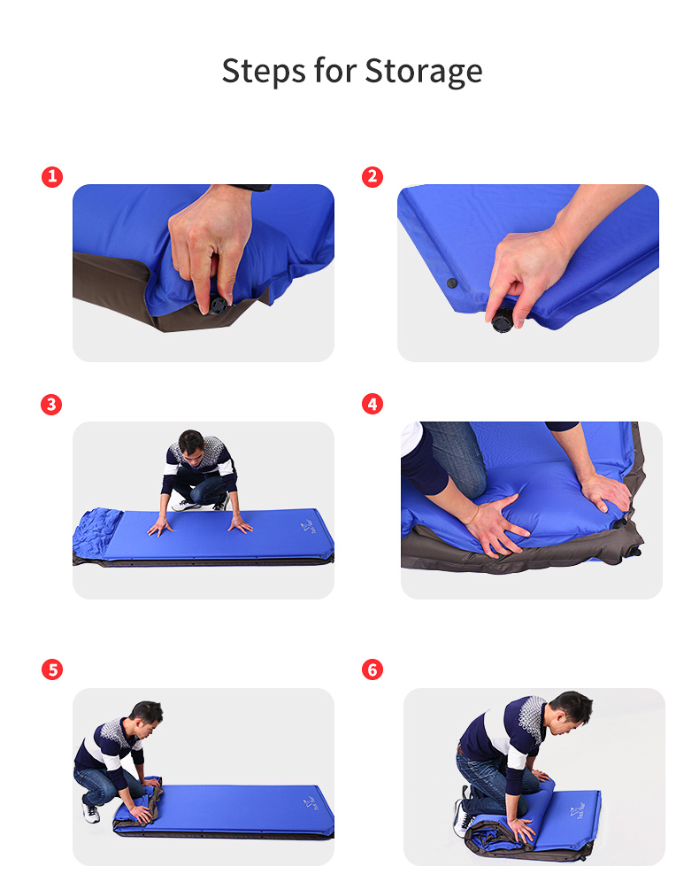 Trackman TM2224 2-3 Person Outdoor Sleeping Picnic Mat Self-Inflating Moisture-proof Tent Pad