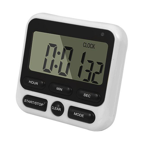 Loskii KC-05 Upgraded 24-Hours Digital Kitchen Clock Cooking Timer Countdown Multifunction with Big