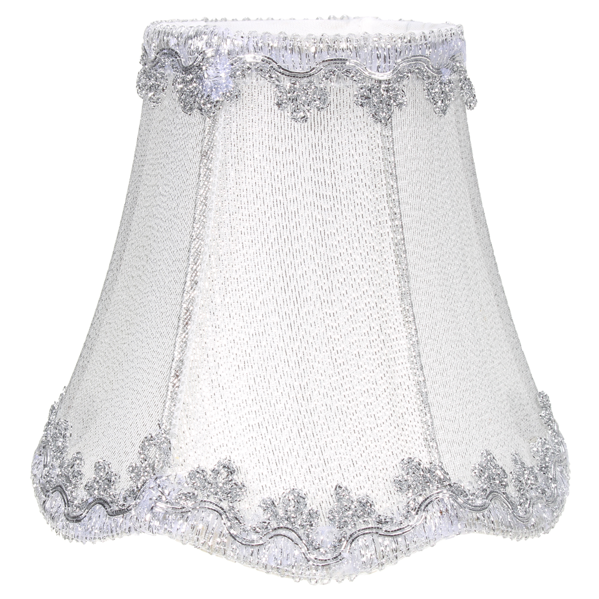 Vintage Small Lace Lamp Shades Textured Fabric Covers For
