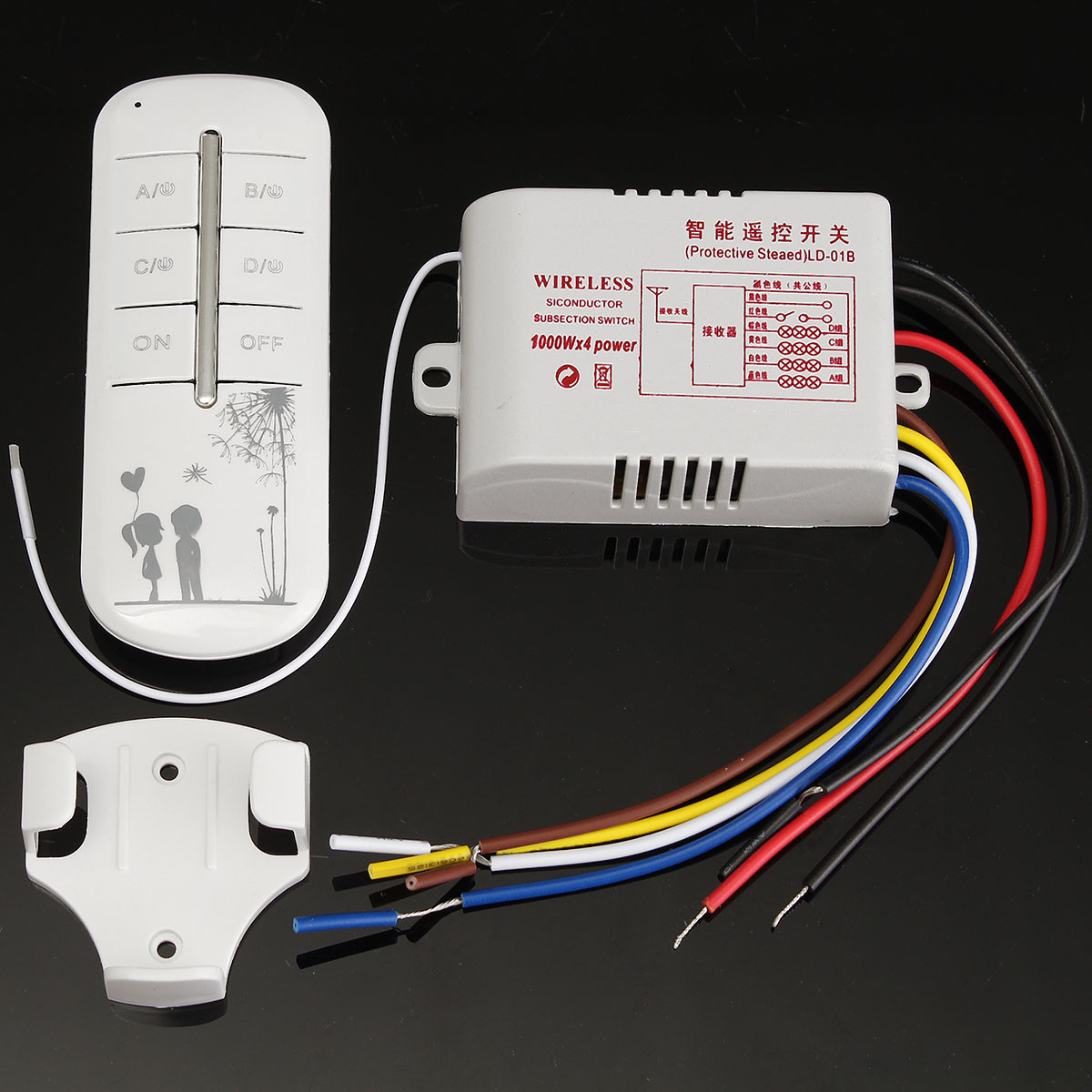Switches Outlets 220v 315mhz 4ch Wireless Smart Light Remote How To Wire A Switch Plug Outlet