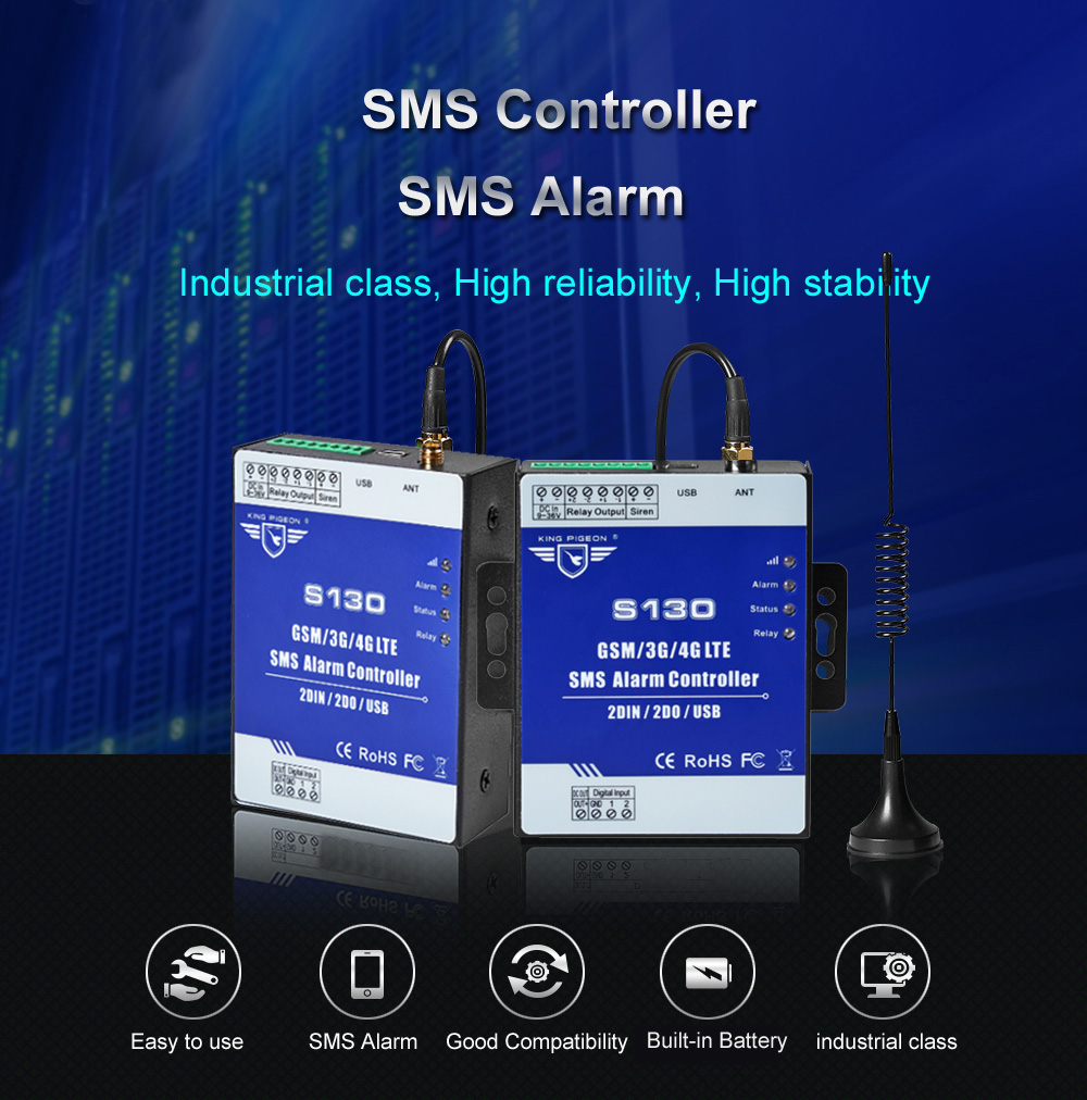 S130 2G 3G GSM Alarm Temperature Monitoring Anti-theft RTU SMS Control Remote Switch Controller