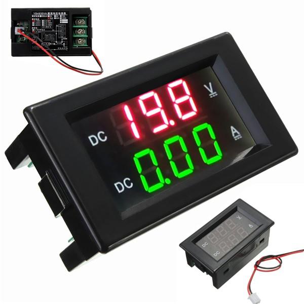 DANIU YB4835VA 0-100V 20A Double Display Volt Meterr Current Meter Digital LED