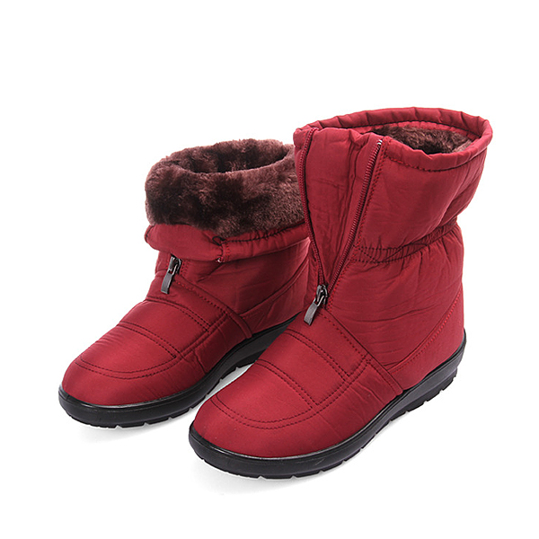 Big Size Women Winter Keep Warm Snow Waterproof Boots Cotton Boots Plush Warm Boots
