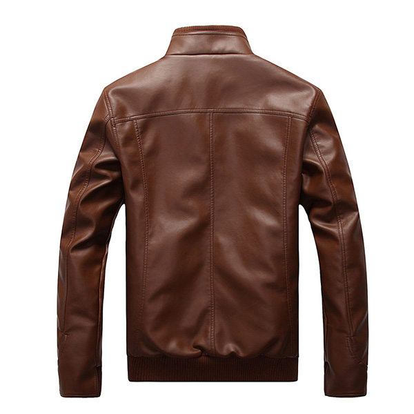 Plus Size Mens Fashion Black Faux Leather Jacket
